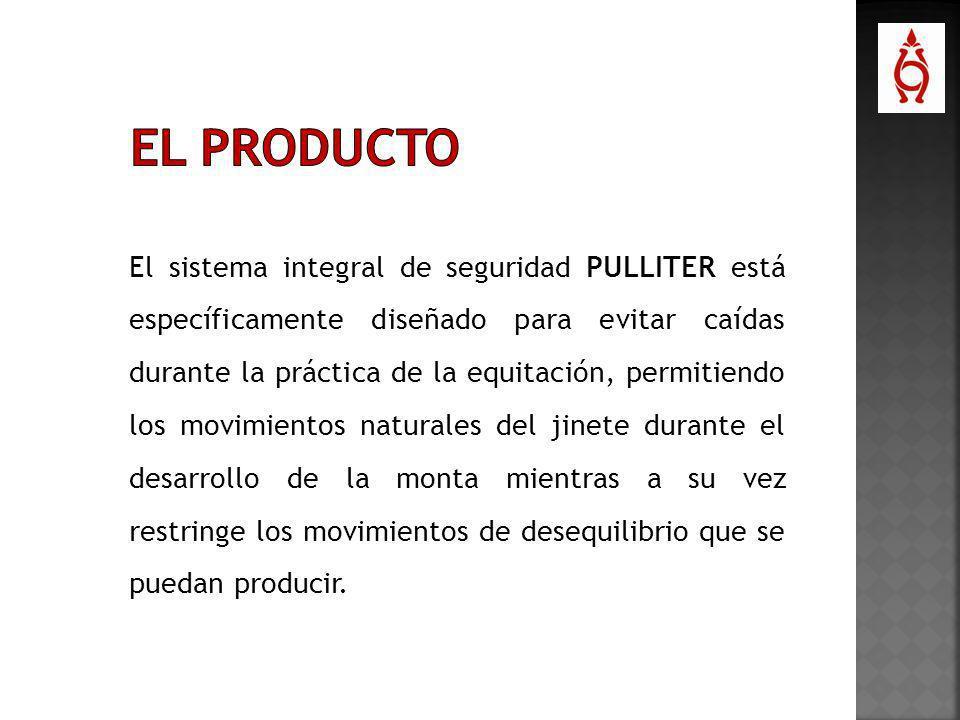 El sistema integral de seguridad PULLITER está específicamente diseñado para evitar caídas durante la práctica de la equitación, permitiendo los movim