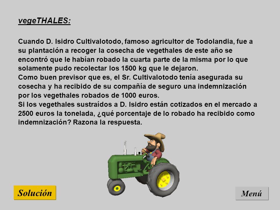 Solución Menú vegeTHALES: Cuando D.