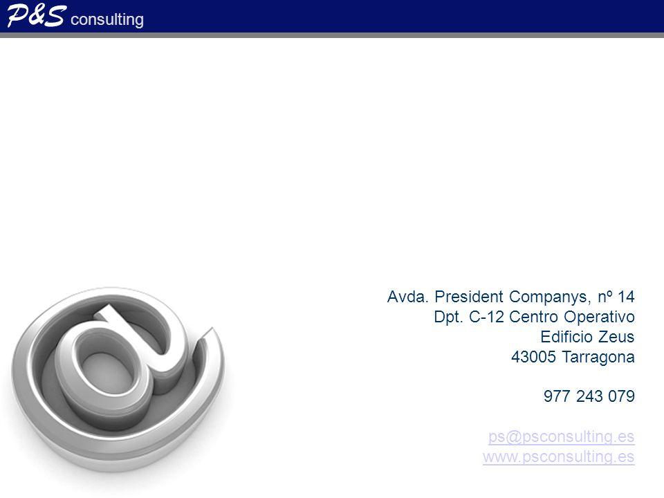 P&S consulting Avda.President Companys, nº 14 Dpt.
