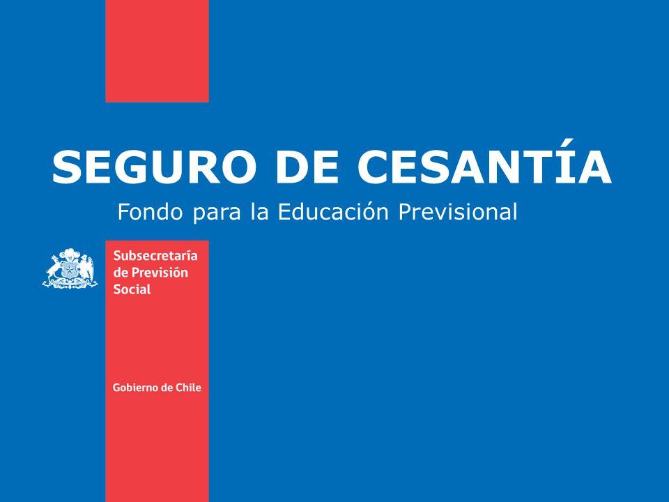 SEGURO DE CESANTÍA Fondo para la Educación Previsional