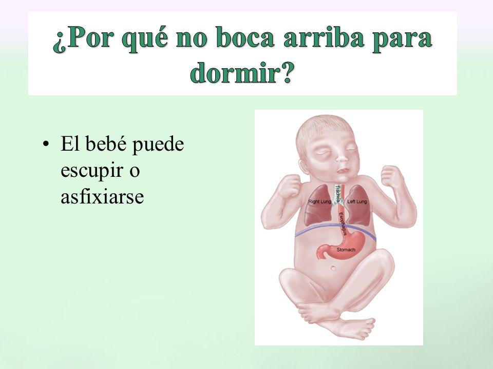 El bebé puede escupir o asfixiarse