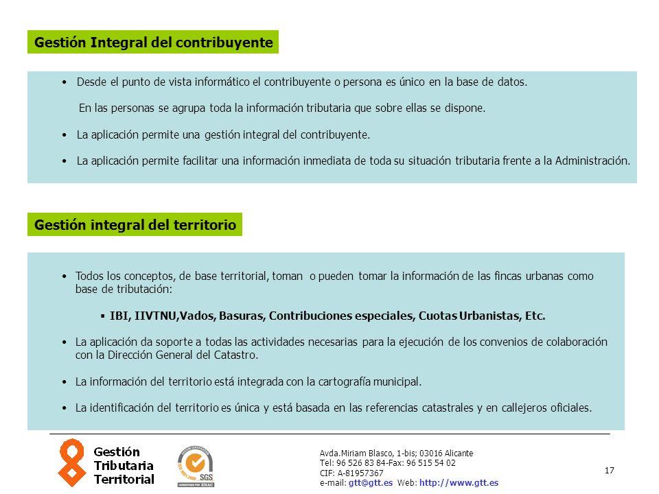 17 Avda.Miriam Blasco, 1-bis; 03016 Alicante Tel: 96 526 83 84-Fax: 96 515 54 02 CIF: A-81957367 e-mail: gtt@gtt.es Web: http://www.gtt.es Desde el pu