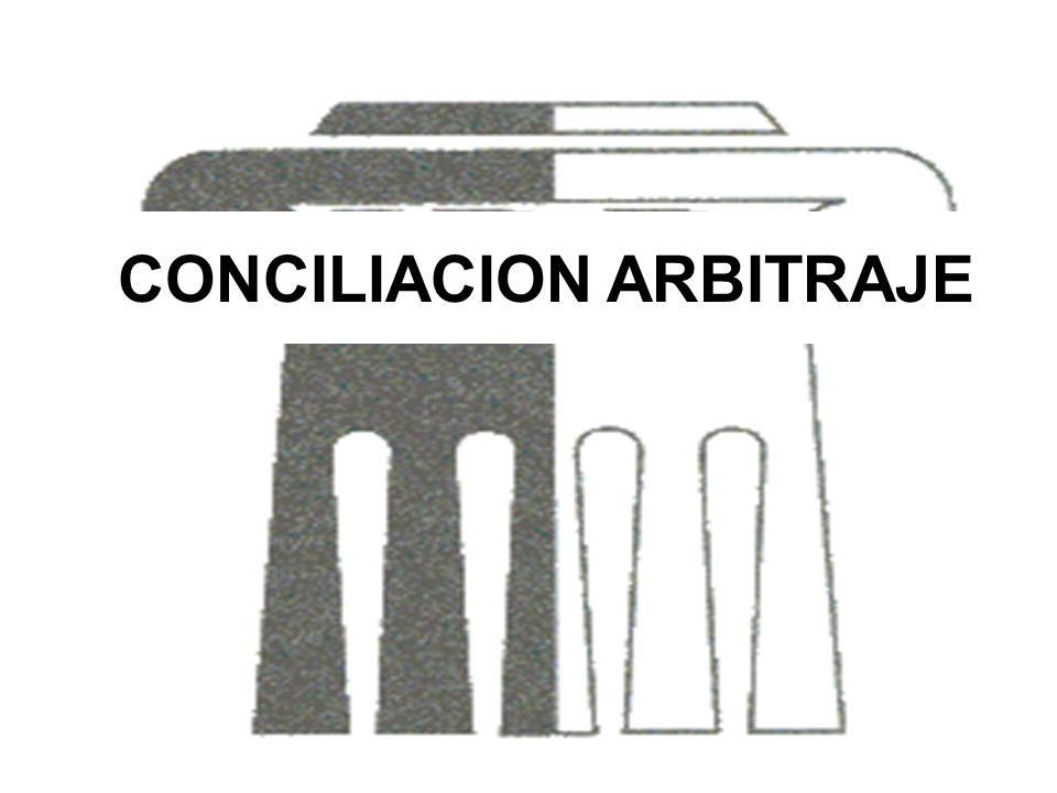 CONCILIACION ARBITRAJE