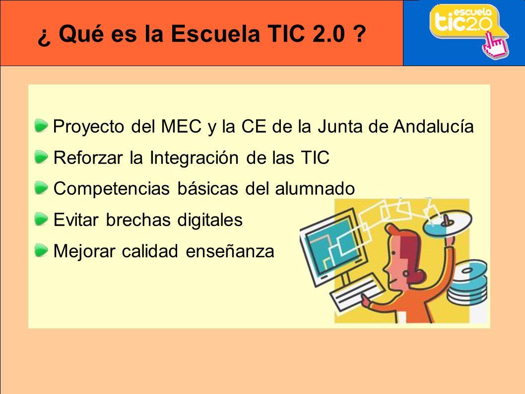 ¿ Qué es la Escuela TIC 2.0 .