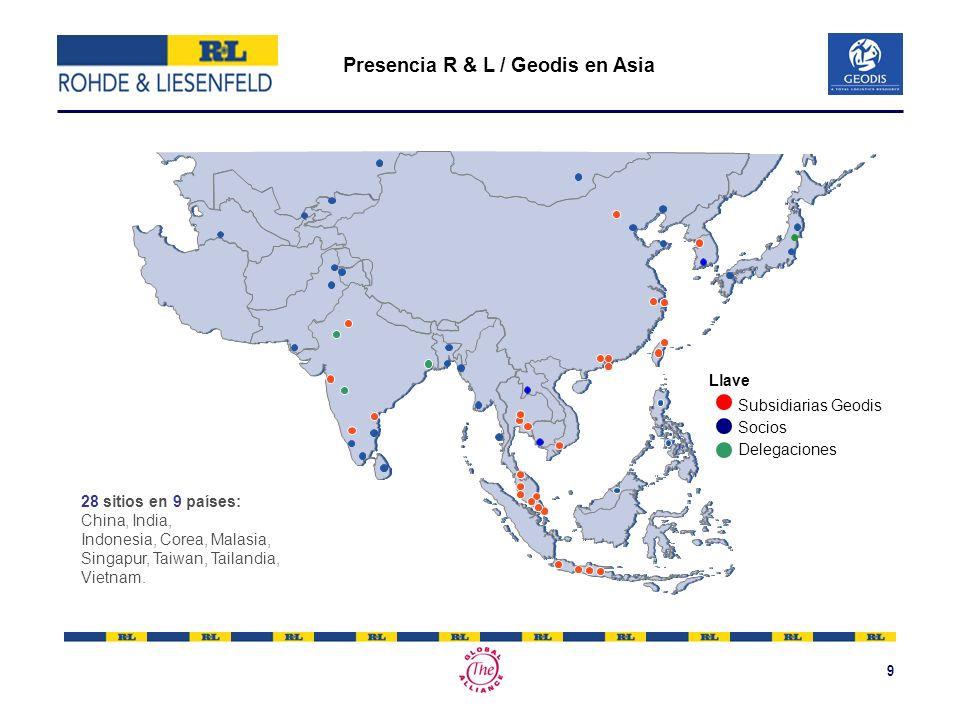 9 Presencia R & L / Geodis en Asia