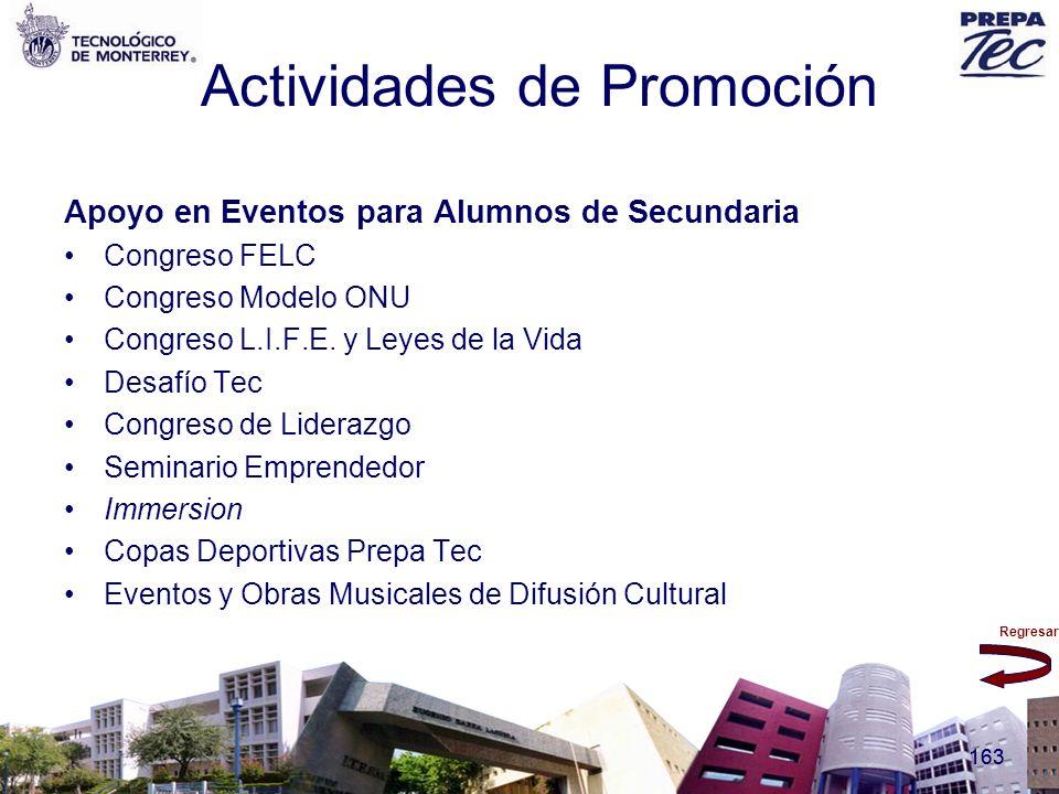 Regresar 163 Actividades de Promoción Apoyo en Eventos para Alumnos de Secundaria Congreso FELC Congreso Modelo ONU Congreso L.I.F.E. y Leyes de la Vi