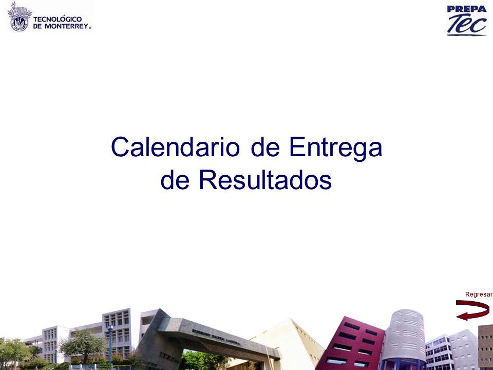 Regresar Calendario de Entrega de Resultados
