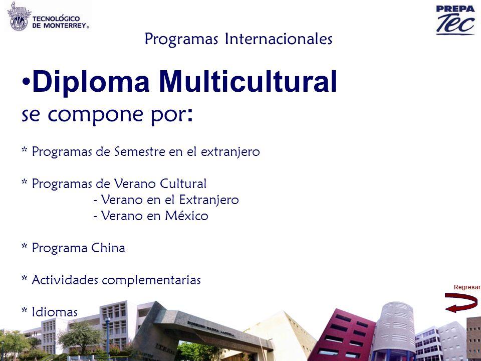 Regresar Programas Internacionales Diploma Multicultural se compone por : * Programas de Semestre en el extranjero * Programas de Verano Cultural - Ve