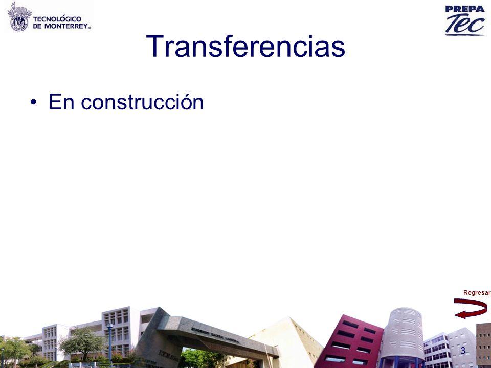 Regresar 3 Transferencias En construcción