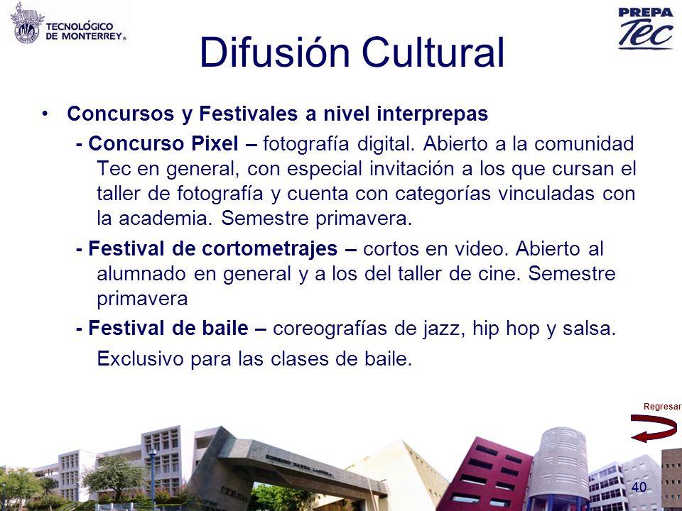 Regresar 40 Difusión Cultural Concursos y Festivales a nivel interprepas - Concurso Pixel – fotografía digital. Abierto a la comunidad Tec en general,