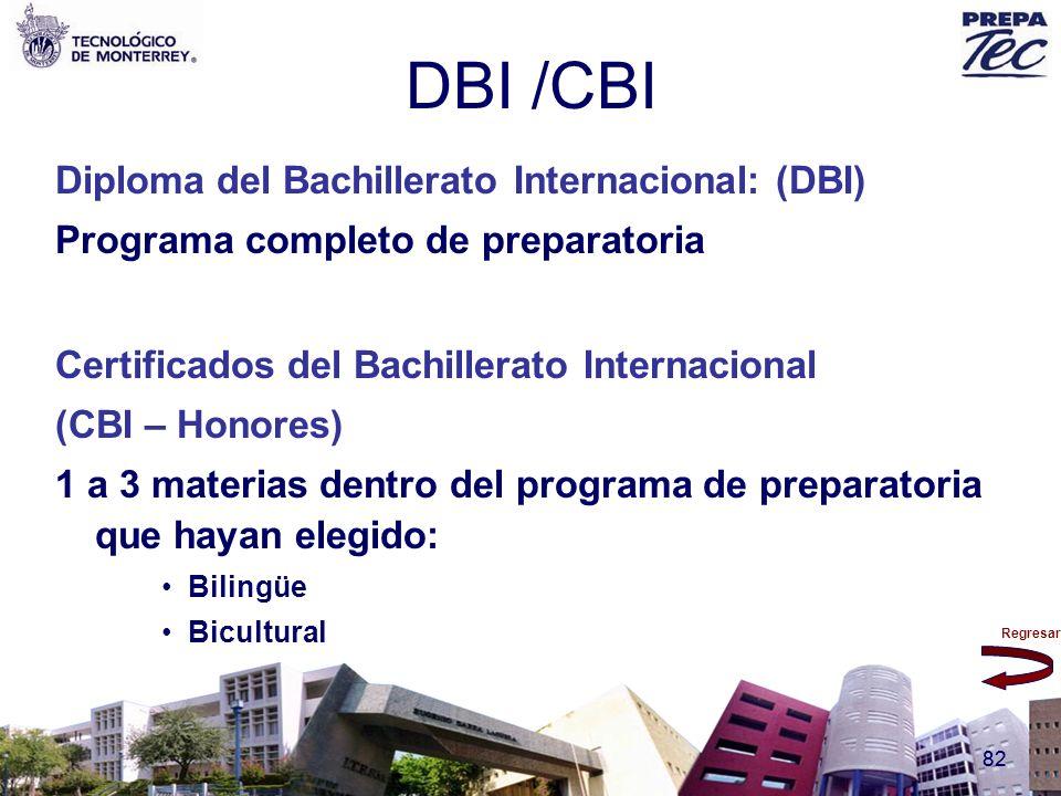Regresar 82 DBI /CBI Diploma del Bachillerato Internacional: (DBI) Programa completo de preparatoria Certificados del Bachillerato Internacional (CBI