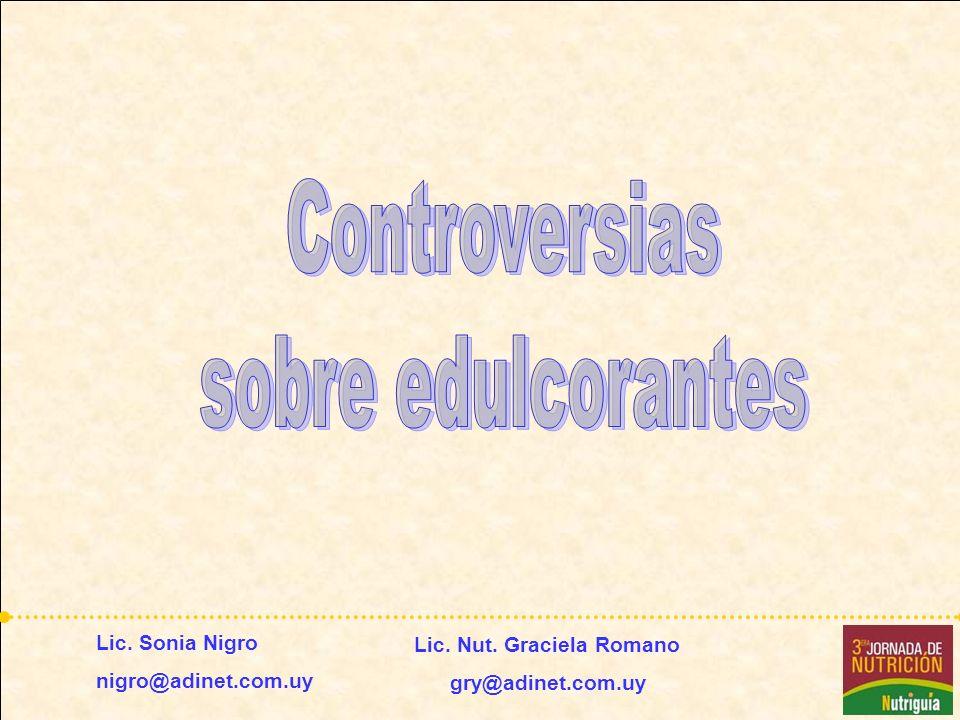 Controversias sobre edulcorantes – 7 agosto de 2008 Aspartamo Descubierto en 1965.