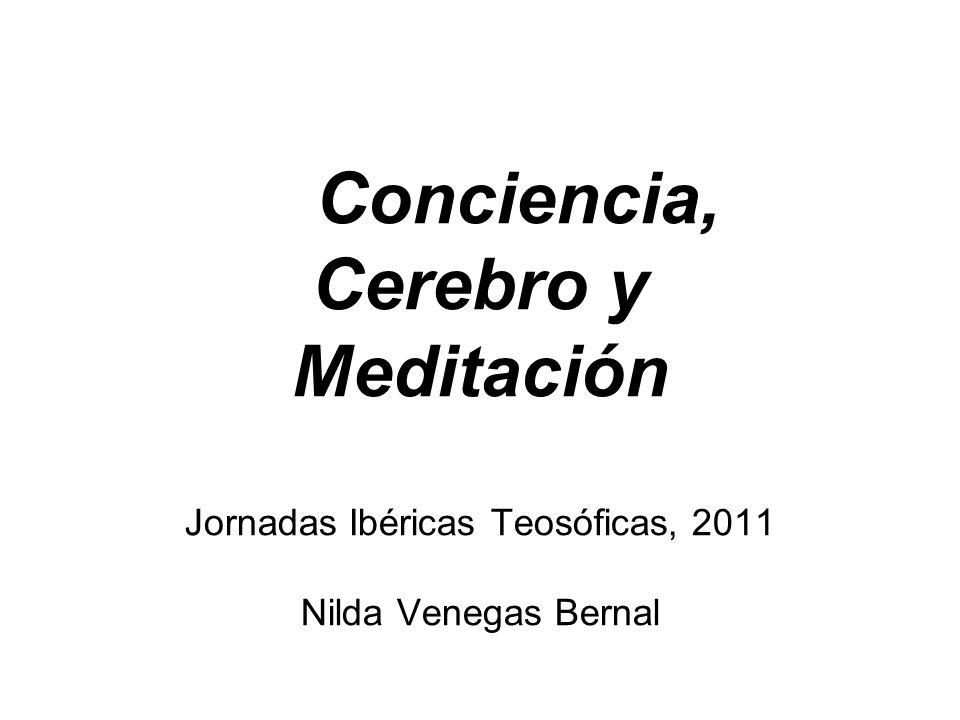 Conciencia, Cerebro y Meditación Jornadas Ibéricas Teosóficas, 2011 Nilda Venegas Bernal