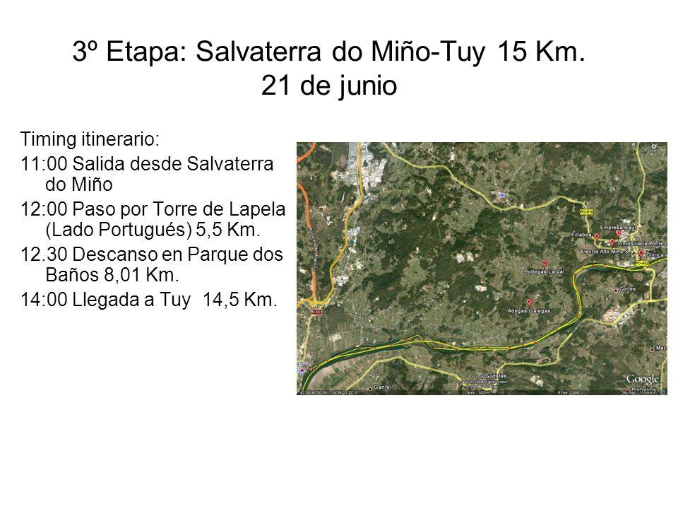 3º Etapa: Salvaterra do Miño-Tuy 15 Km.