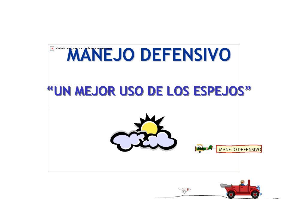 MANEJO DEFENSIVO UN MEJOR USO DE LOS ESPEJOS MANEJO DEFENSIVO