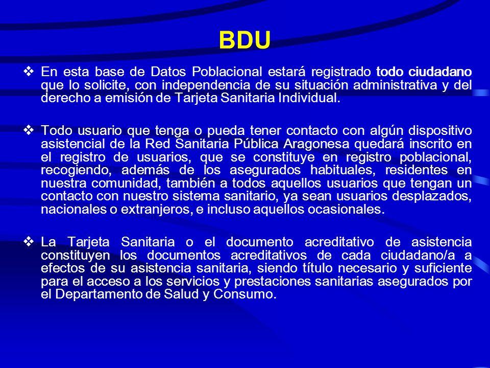 BASE DE DATOS DE USUARIOS ARAGON 2008 CONTEXTO CLIENTES UTILIDADES FPara la Autoridad Sanitaria. FPara las unidades administrativas del Sistema de Sal
