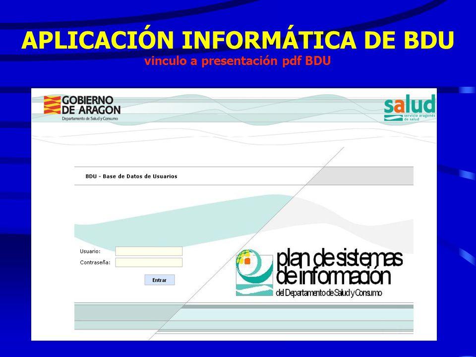 APLICACIÓN INFORMATICA: - Características de la B Datos - Explotaciones periódicas -Conexiones con entidades externas