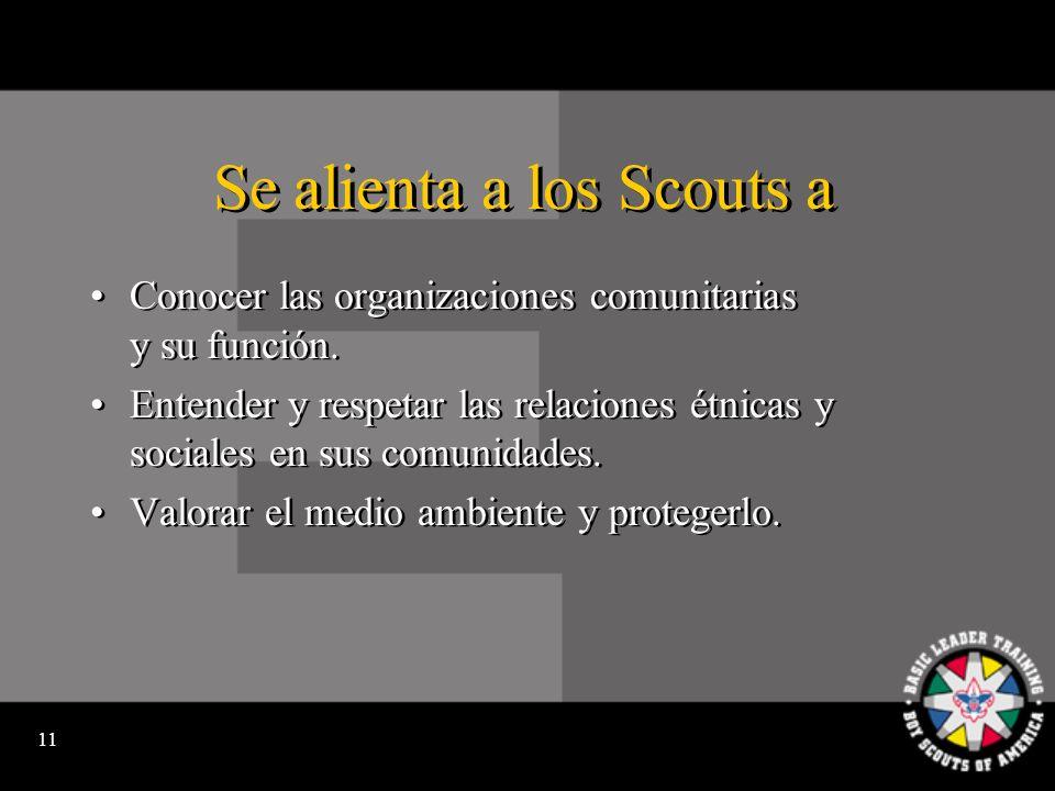 10 Se alienta a los Scouts a Aprender sobre y estar orgullosos de su patrimonio nacional.