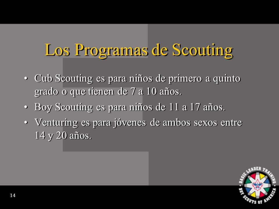 13 Scouting anima Hacer ejercicio y participar en actividades vigorosas.