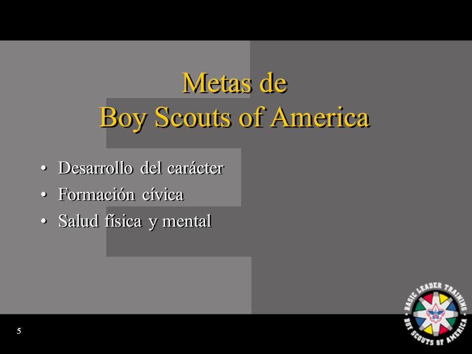 4 La Misión de Boy Scouts of America: Para preparar a los jóvenes para tomar decisiones éticas durante su vida infundiéndoles los valores del Juramento y la Ley del Scout.