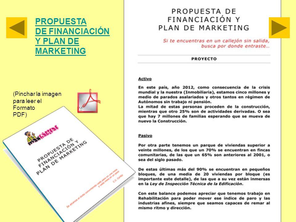 PROPUESTA DE FINANCIACIÓN Y PLAN DE MARKETING (Pinchar la imagen para leer el Formato PDF)
