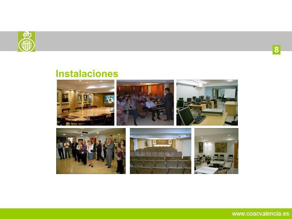 www.coacvalencia.es 13 8 Instalaciones