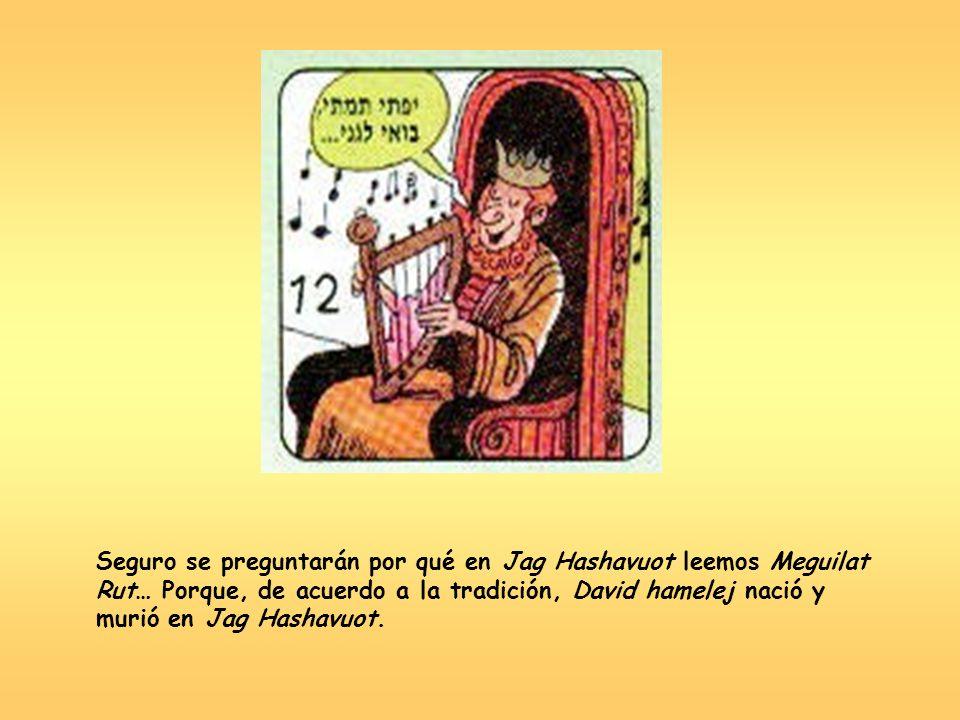 Seguro se preguntarán por qué en Jag Hashavuot leemos Meguilat Rut… Porque, de acuerdo a la tradición, David hamelej nació y murió en Jag Hashavuot.