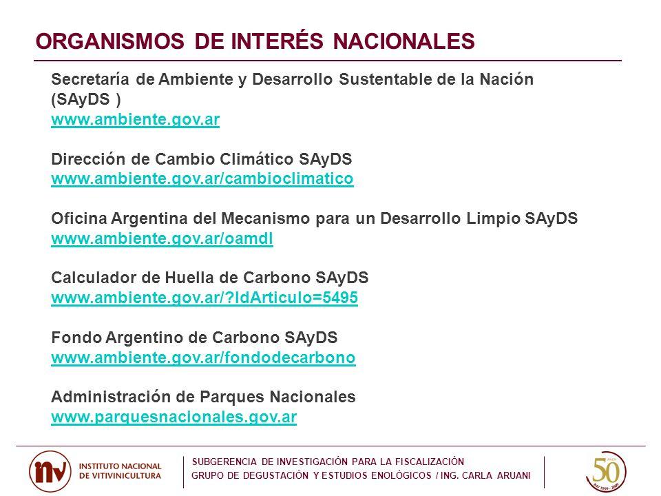 Secretaría de Ambiente y Desarrollo Sustentable de la Nación (SAyDS ) www.ambiente.gov.ar Dirección de Cambio Climático SAyDS www.ambiente.gov.ar/camb