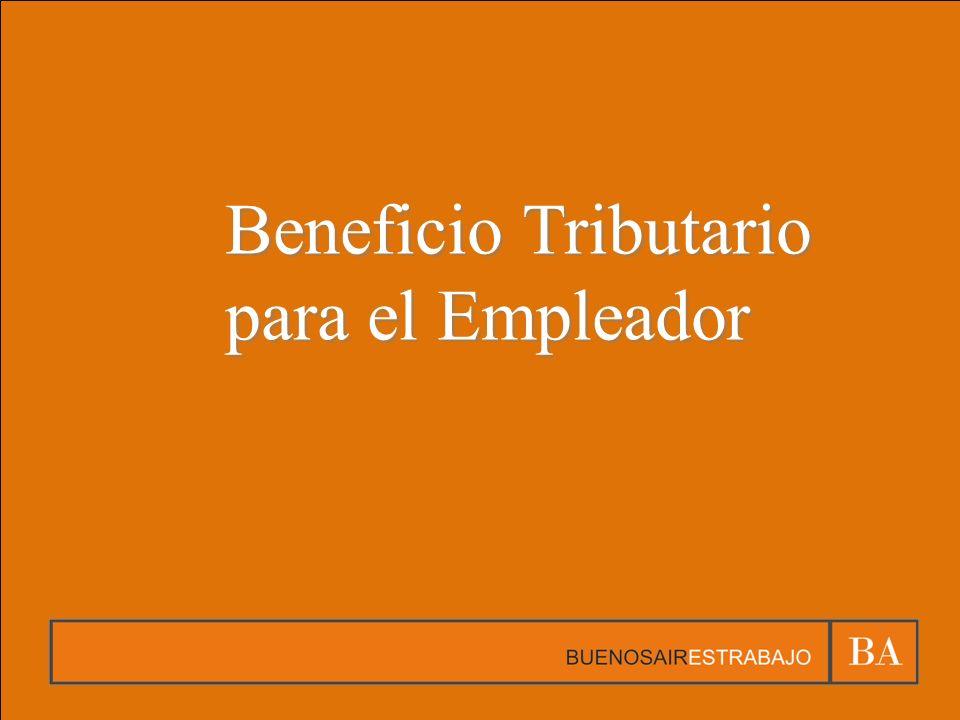 Beneficio Tributario para el Empleador