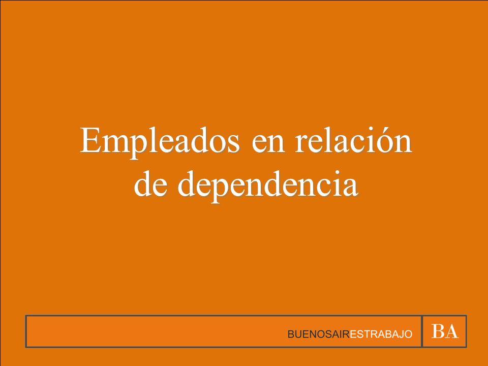 Empleados en relación de dependencia