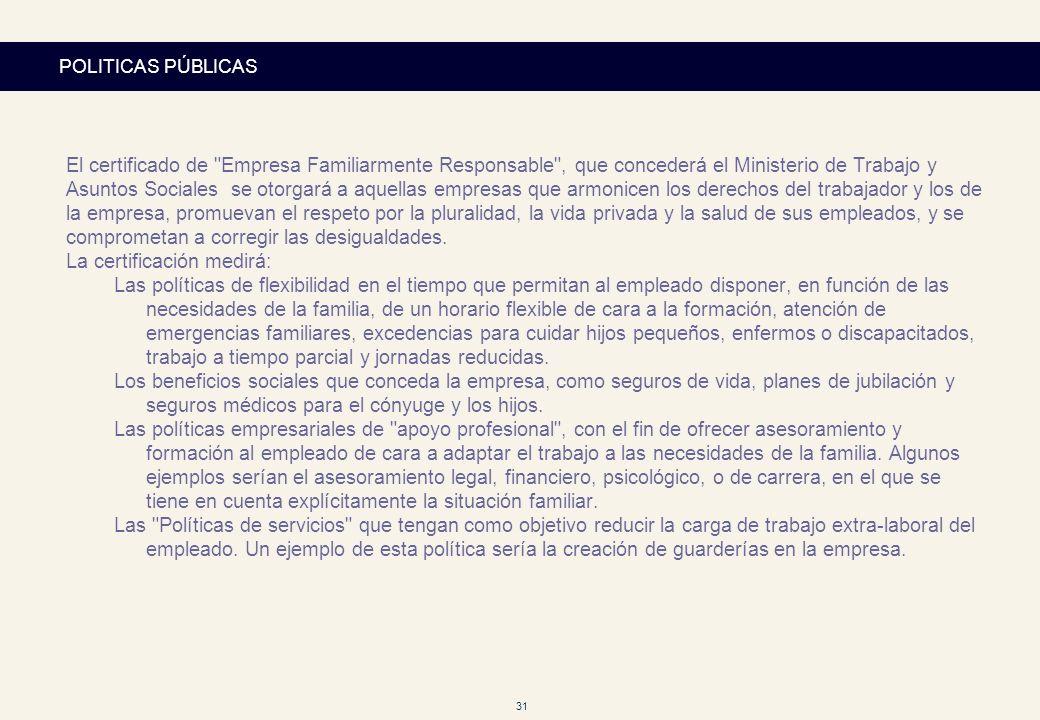 31 POLITICAS PÚBLICAS El certificado de