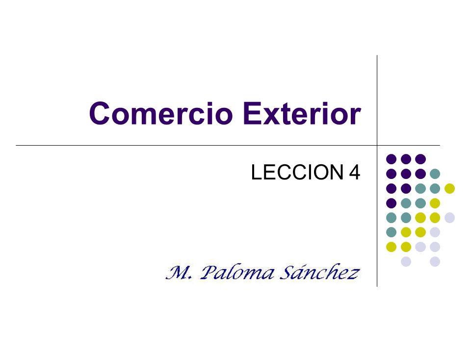 Comercio Exterior LECCION 4