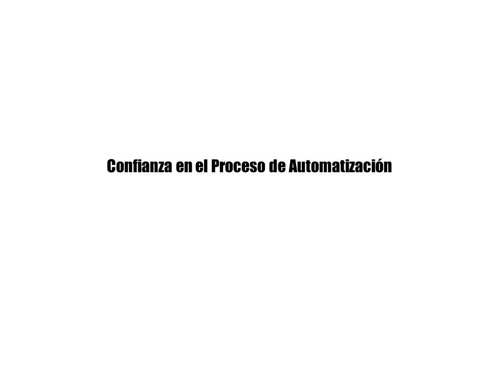 Confianza en el Proceso de Automatización