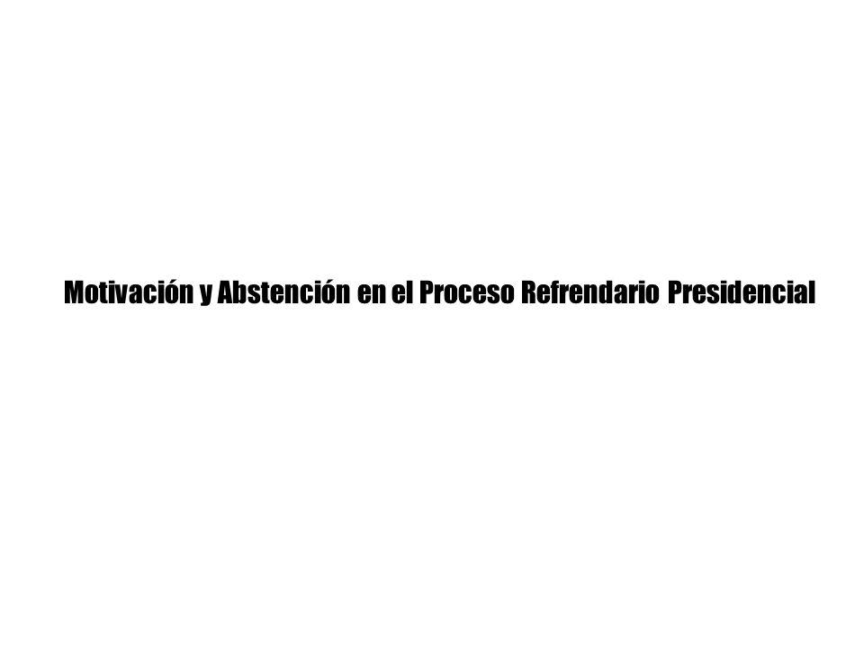 Motivación y Abstención en el Proceso Refrendario Presidencial