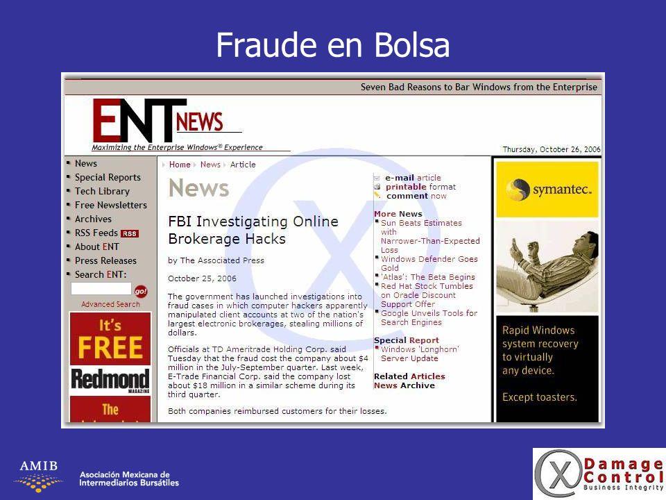Fraude en Bolsa