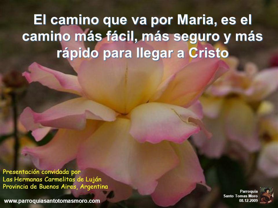Mientras más cobijados estemos en el corazón de la Madre de Dios, Ella nos cobijará más pronto y más seguro en el corazón de Dios