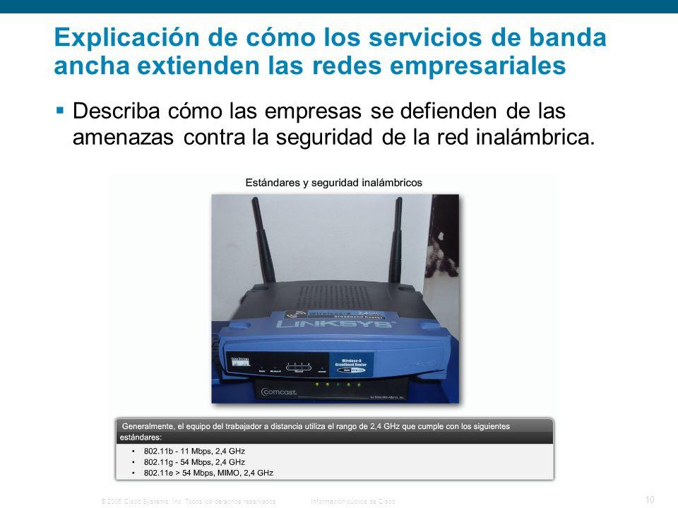 © 2006 Cisco Systems, Inc. Todos los derechos reservados. Información pública de Cisco 10 Explicación de cómo los servicios de banda ancha extienden l