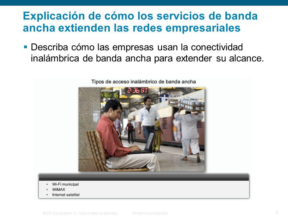 © 2006 Cisco Systems, Inc. Todos los derechos reservados. Información pública de Cisco 9 Explicación de cómo los servicios de banda ancha extienden la