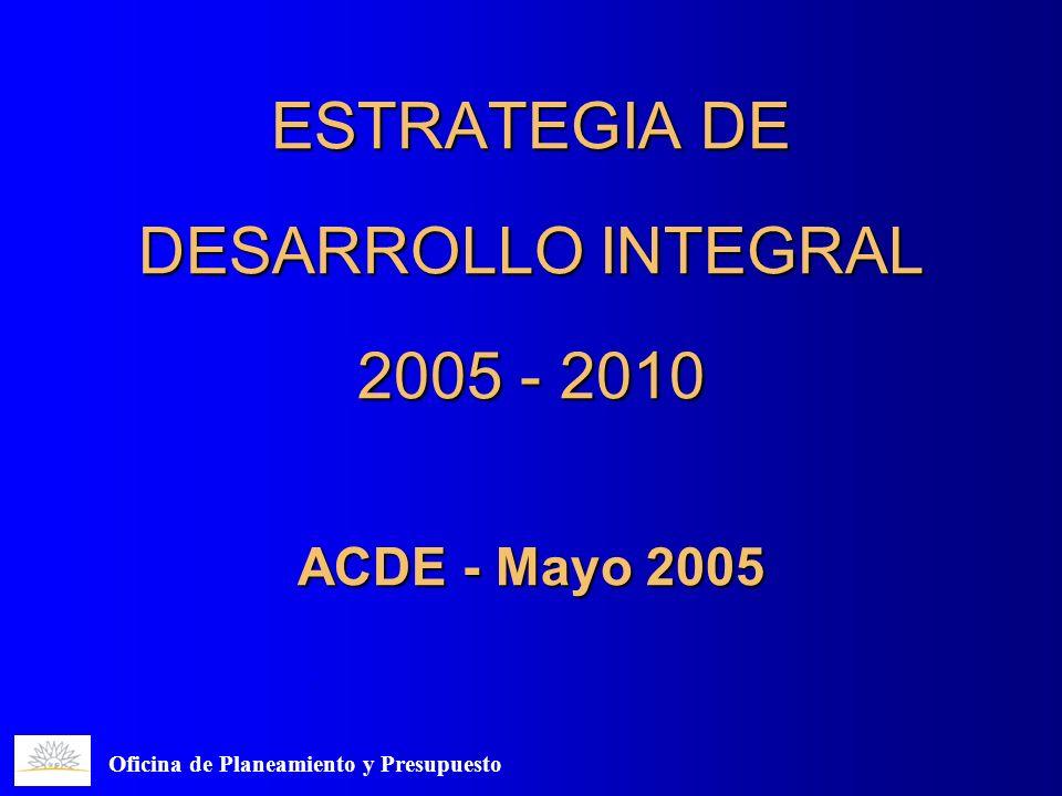 ESTRATEGIA DE DESARROLLO INTEGRAL 2005 - 2010 ACDE - Mayo 2005 Oficina de Planeamiento y Presupuesto