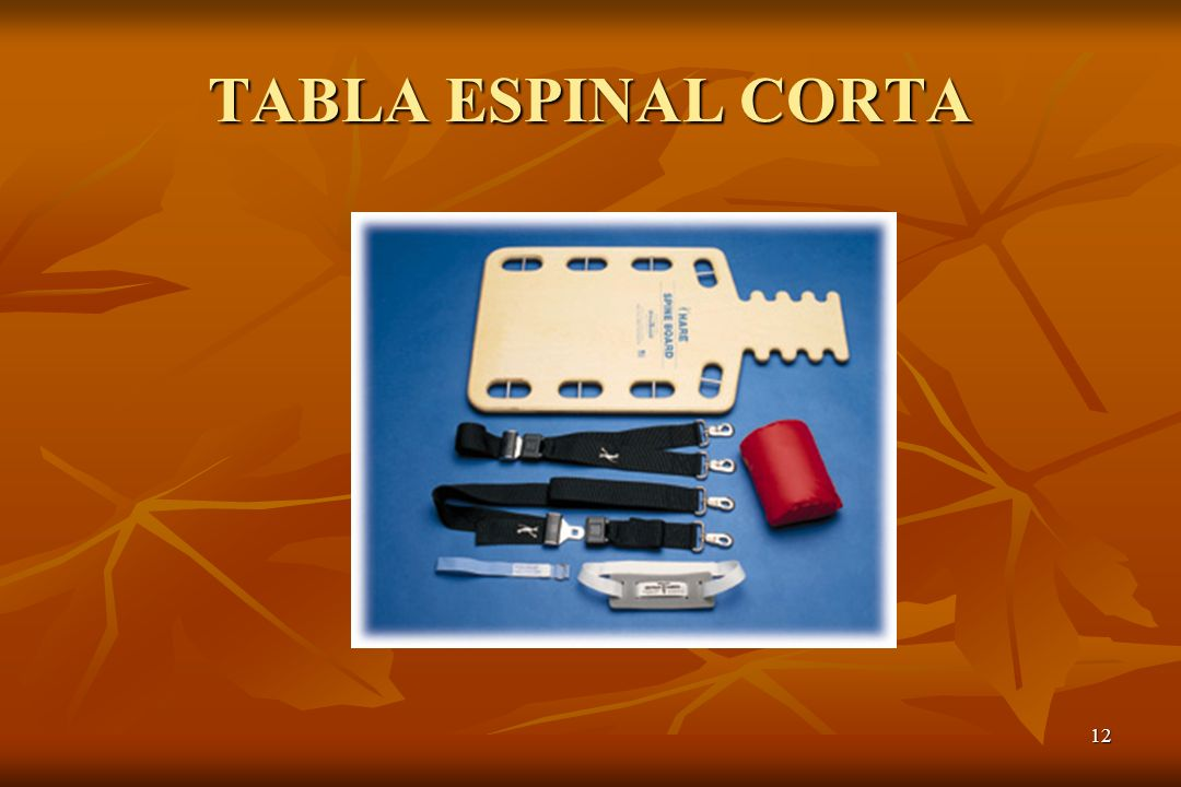12 TABLA ESPINAL CORTA