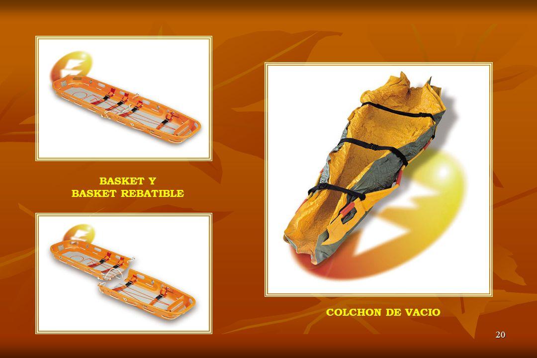 20 COLCHON DE VACIO BASKET Y BASKET REBATIBLE