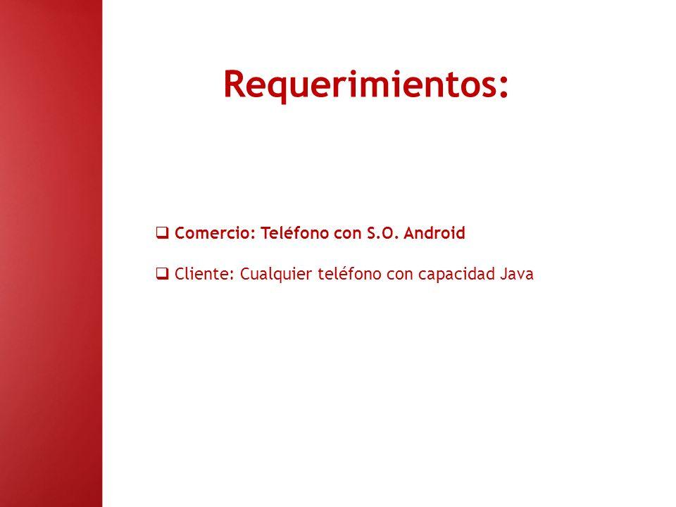 Operativa del Sistema: 1.- Descarga de la aplicación Tanto comercios (http://market.android.com) como clienteshttp://market.android.com (app.