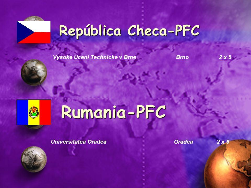 República Checa-PFC Vysoke Uceni Technicke v Brne Brno 2 x 5 Rumania-PFC Universitatea Oradea Oradea 2 x 6