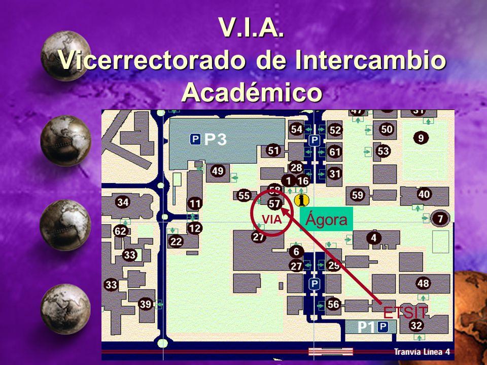 V.I.A. Vicerrectorado de Intercambio Académico VIA Ágora ETSIT