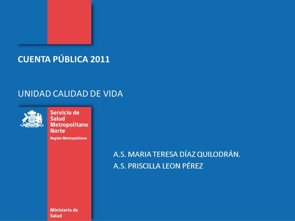 CUENTA PÚBLICA 2011 UNIDAD CALIDAD DE VIDA A.S. MARIA TERESA DÍAZ QUILODRÁN.
