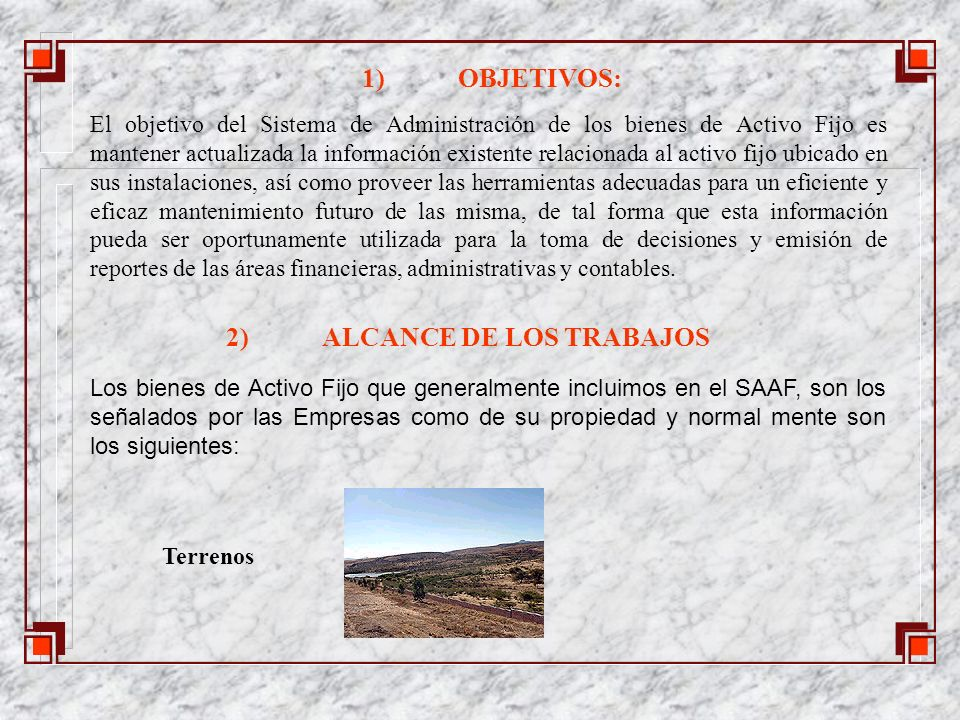 c)Manual de procedimientos con el modelo aprobado conjuntamente con la Empresa para la administración del Activo fijo.