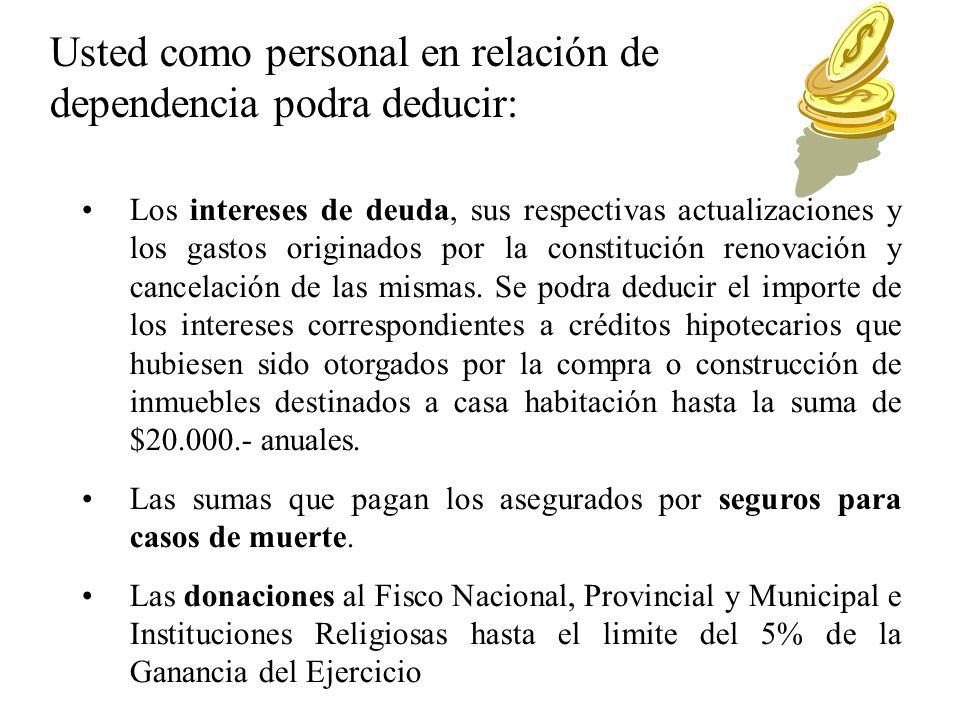 g) Los descuentos obligatorios efectuados para aportes para obras sociales correspondientes al contribuyente y a las personas que revistan para el mismo el carácter de cargas de familia.