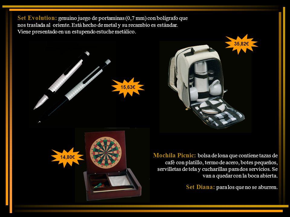 Set Evolution: genuino juego de portaminas (0,7 mm) con bolígrafo que nos traslada al oriente. Está hecho de metal y su recambio es estándar. Viene pr