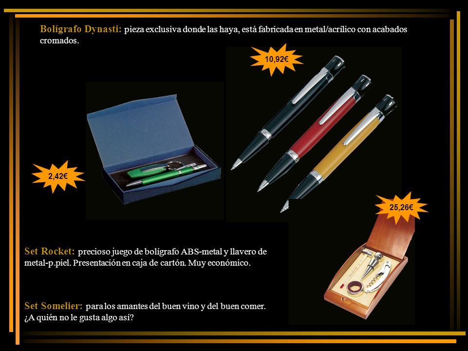 Bolígrafo Dynasti: pieza exclusiva donde las haya, está fabricada en metal/acrílico con acabados cromados.