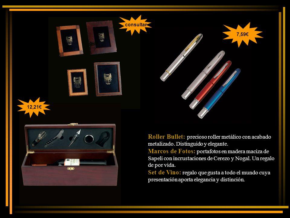 Roller Bullet: precioso roller metálico con acabado metalizado.